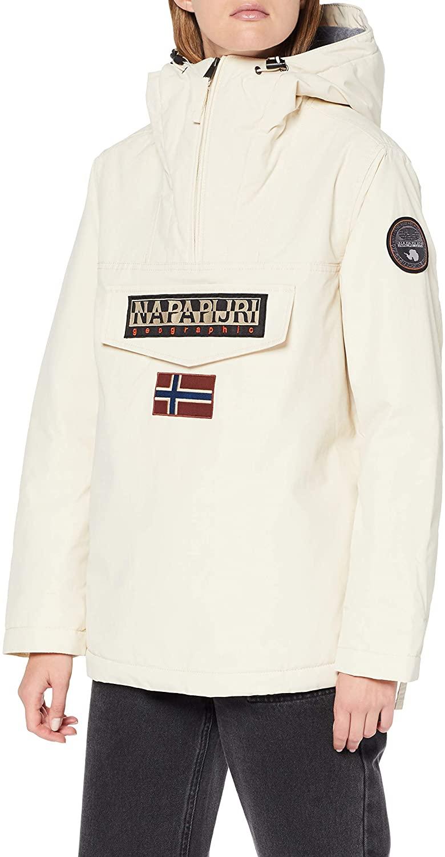 Napapijri Rainforest Winter Coats Women White - XL - Parkas Outerwear