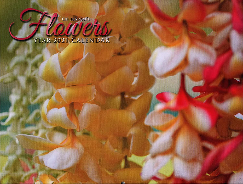 2021 Long's Hawaii 12 Month Hawaiian Calender + Bonus Postcard (Flowers of Hawaii)