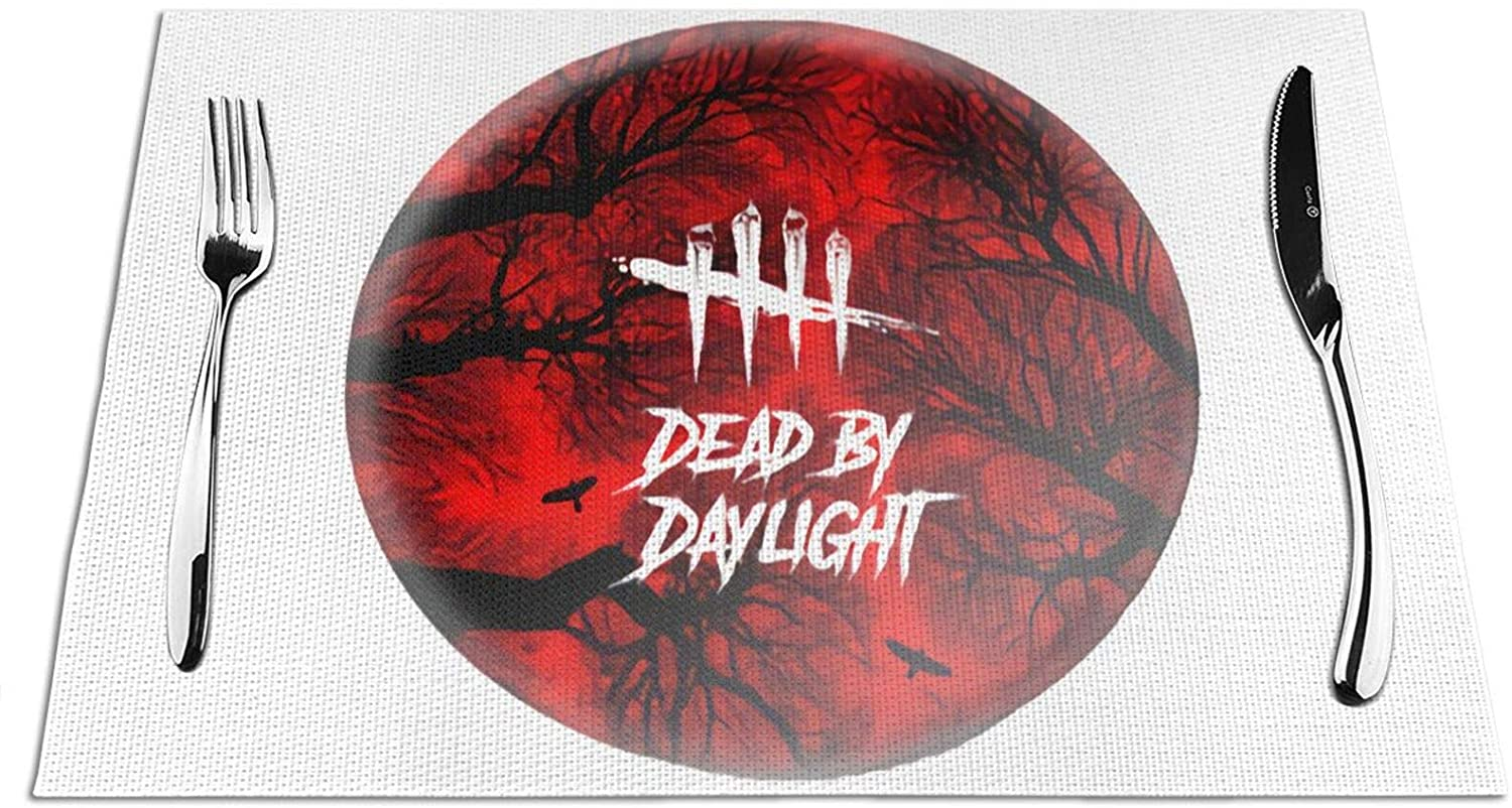 Opplsh Hdrejn Dead by Daylight Placemat, Heat-Resistant, Stain-Proof, Non-Slip Placemat, Washable Durable PVC Table Mat Woven Vinyl Placemat