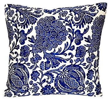 Acapillow Home Furnishings Indigo Grape & Pomegranate Pillow VPL00055