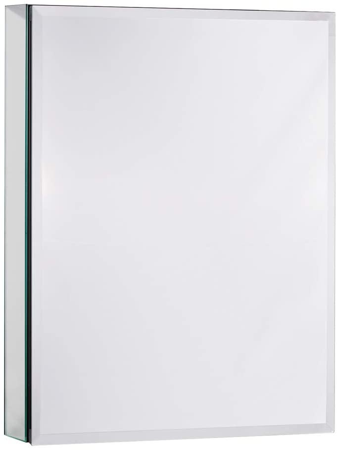 MOVO Medicine Cabinet with Mirror, 26 Inch X 20 Inch Aluminum Mirror Cabinet with Single Door, Bathroom Medicine Cabinet, Adjustable Shelves, Recess or Surface Mount Installation, Matte Black