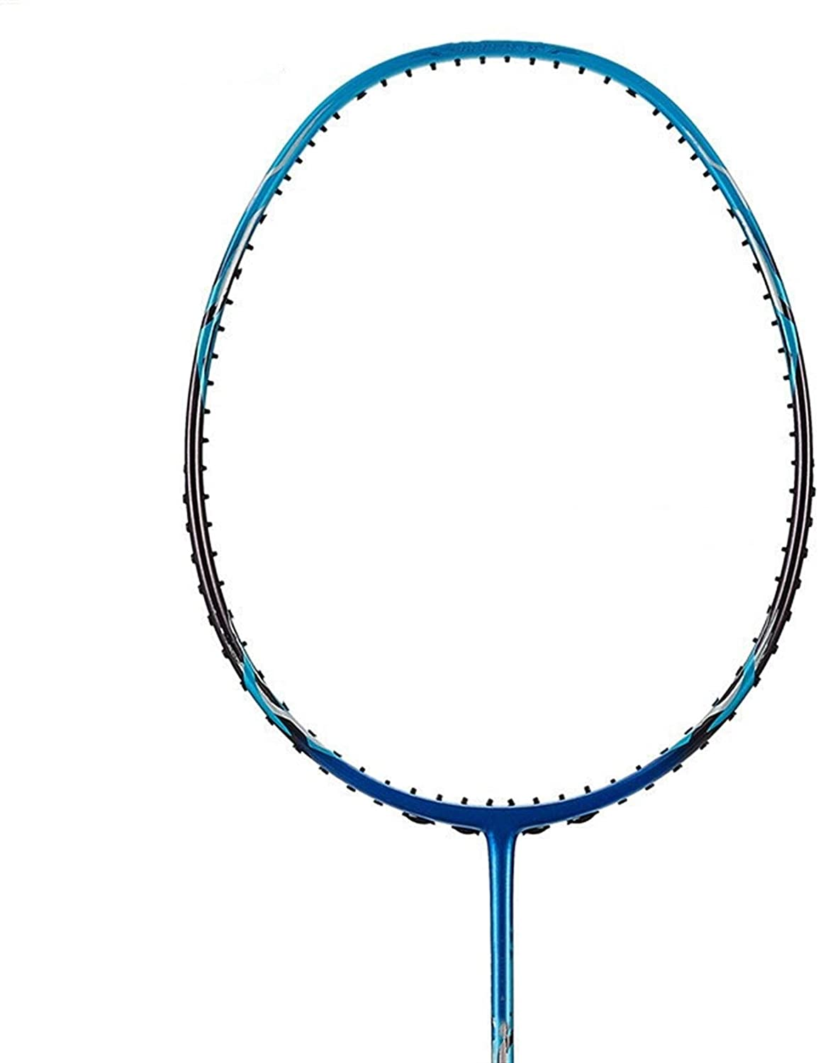 Badminton Racket Speed X266 Attack Carbon Fiber Single Racket Free Grip for Men and Women (Color : X266 Blue WithString)