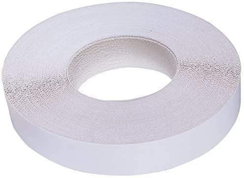 Edge Supply Frosty White (Warm White), Off-White Melamine 25 Ft roll of White Edge Banding, Pre-glued Flexible Edging, Easy Application Iron-On Edging for Furniture Restoration. (3/4 inch X 25 ft)