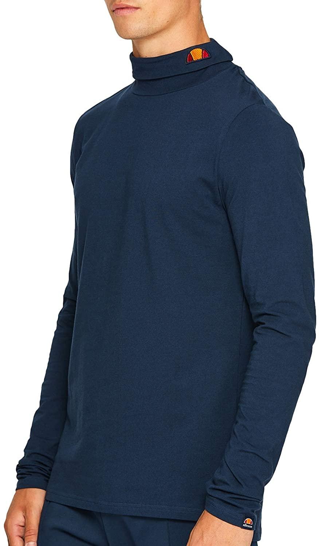ellesse Amica Mens Long Sleeved T-Shirt in Navy