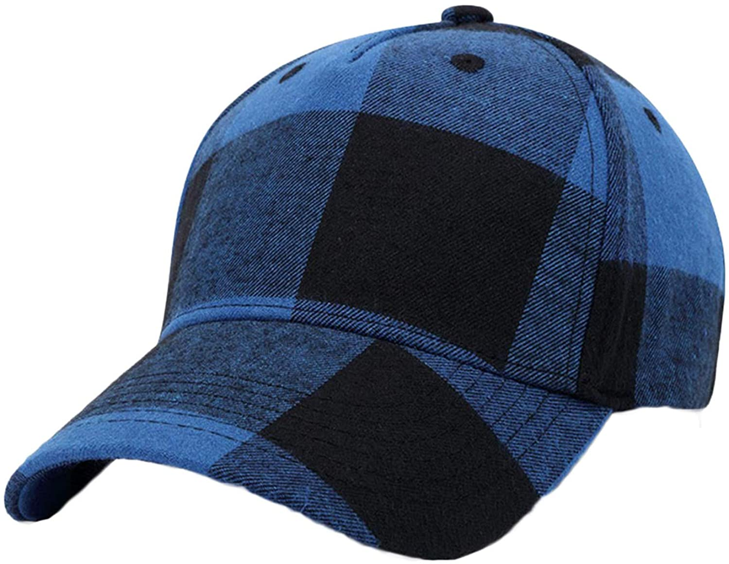 Soluo Casual Plaid Cap Classic Adjustable Soft Baseball Dad Ha Unisex Hats for Men & Women