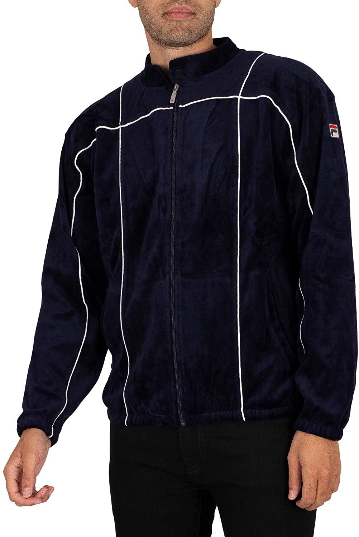 Fila Men's Tusk Track Jacket, Blue, XL