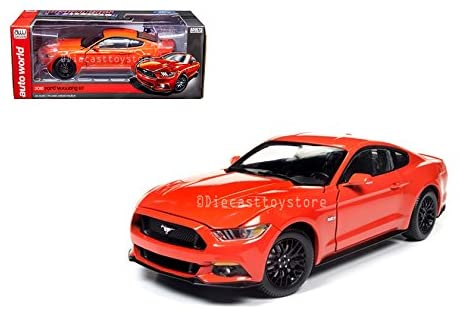 Auto World DIECAST 1:18 Muscle Cars USA - 2016 Ford Mustang GT (Orange) AW242
