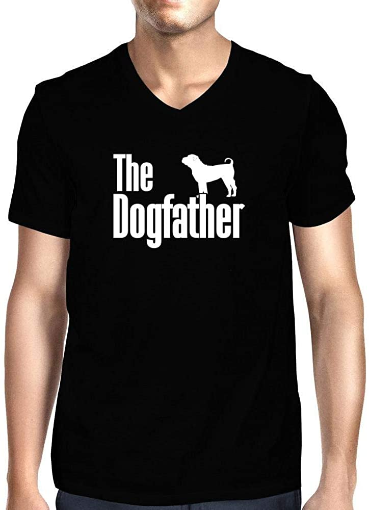 Idakoos The Dogfather Shar Pei V-Neck T-Shirt