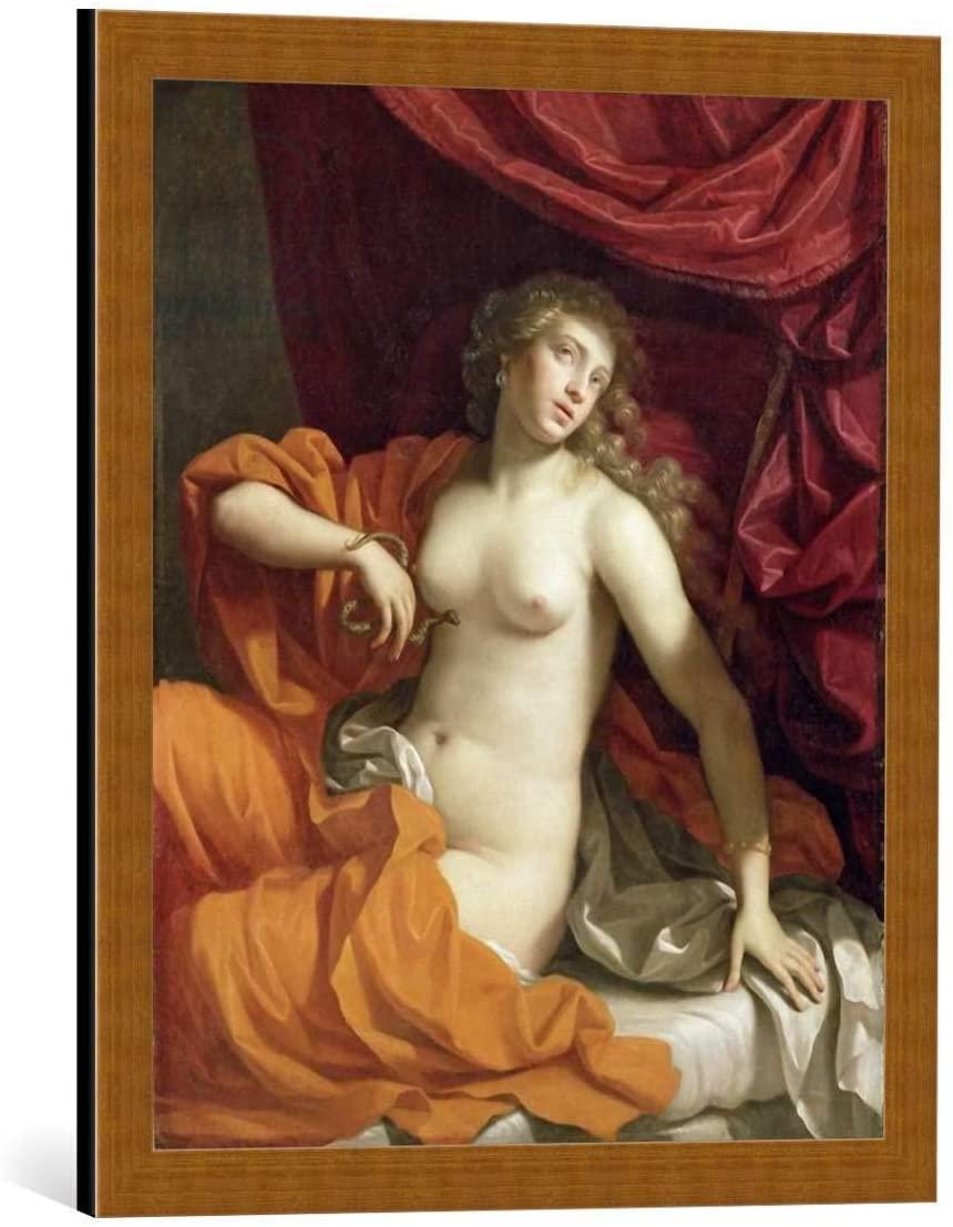 kunst für alle Framed Art Print: Benedetto Gennari der Jüngere Cleopatra c 1674-75 - Decorative Fine Art Poster, Picture with Frame, 19.7x23.6 inch / 50x60 cm, Copper Brushed
