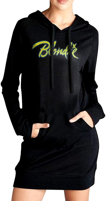 AP.Room Blondie Women's Long Sleeve Slim Fit Sweater Dress Side Pocket Winter Windbreak