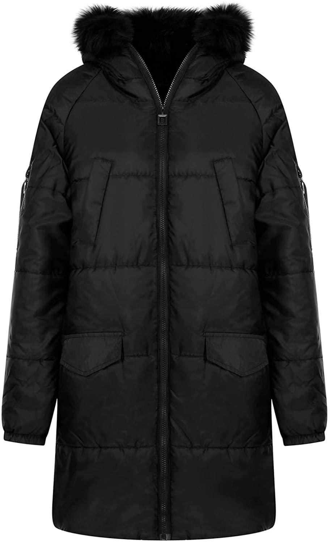 Women Winter Hooded Down Warm Coat Down Jacket Black Outwear Windbreaker