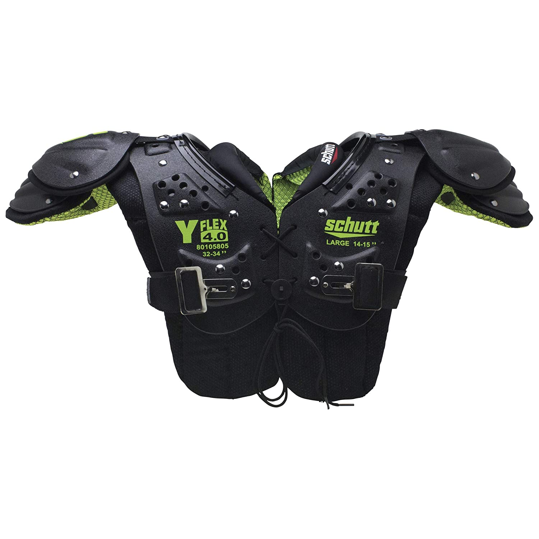 Schutt Sports Y-Flex 4.0 All-Purpose Youth Football Shoulder Pads, XL