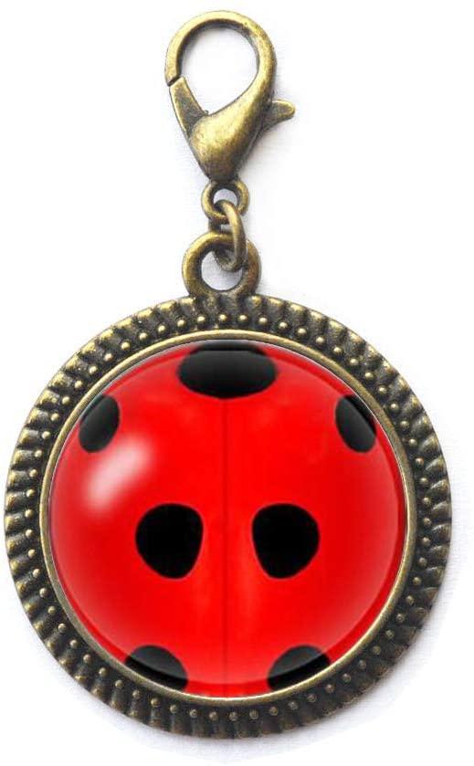 Ladybug Charm Zipper Pull,Realistic Ladybug Charm Zipper Pull,Lady Bug Charm Zipper Pull,Woman Jewelry,N116