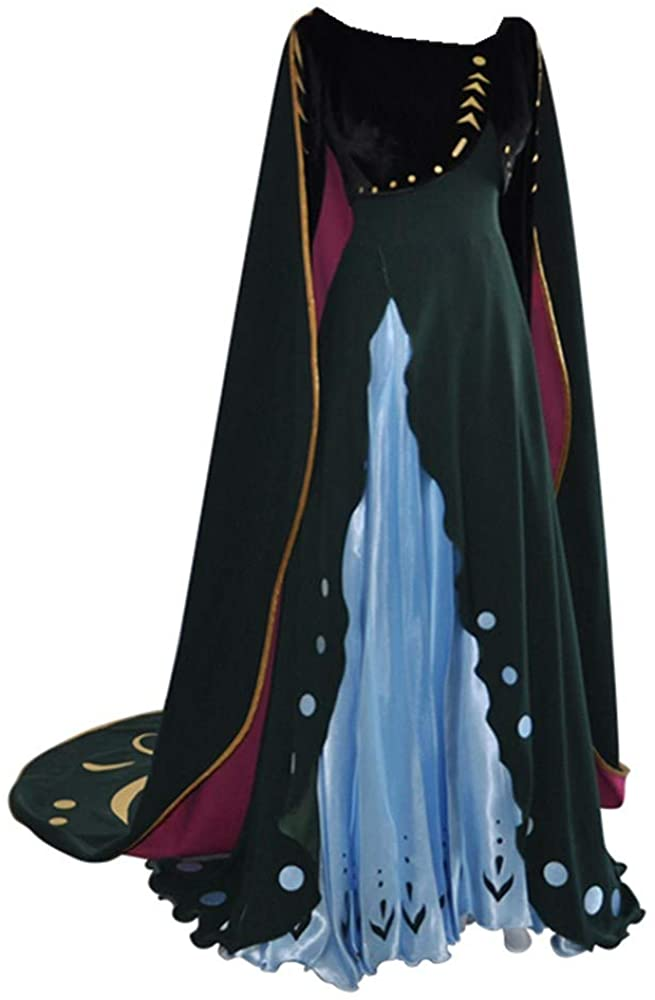Anna Halloween Costume for Women, Snow Ice 2, Christmas Fancy Party Dress