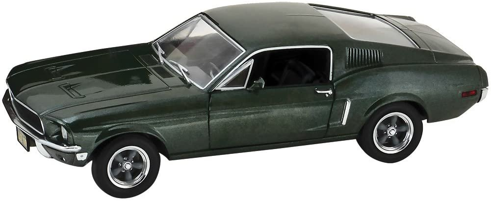 NEW 1:24 GREENLIGHT HOLLYWOOD COLLECTIBLES - BULLITT - GREEN 1968 FORD MUSTANG GT FASTBACK Diecast Model Car By Greenlight