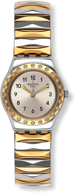 Swatch Demoiselle D'honneur Silver Two Tone Stainless Steel Ladies Watch YSS302A