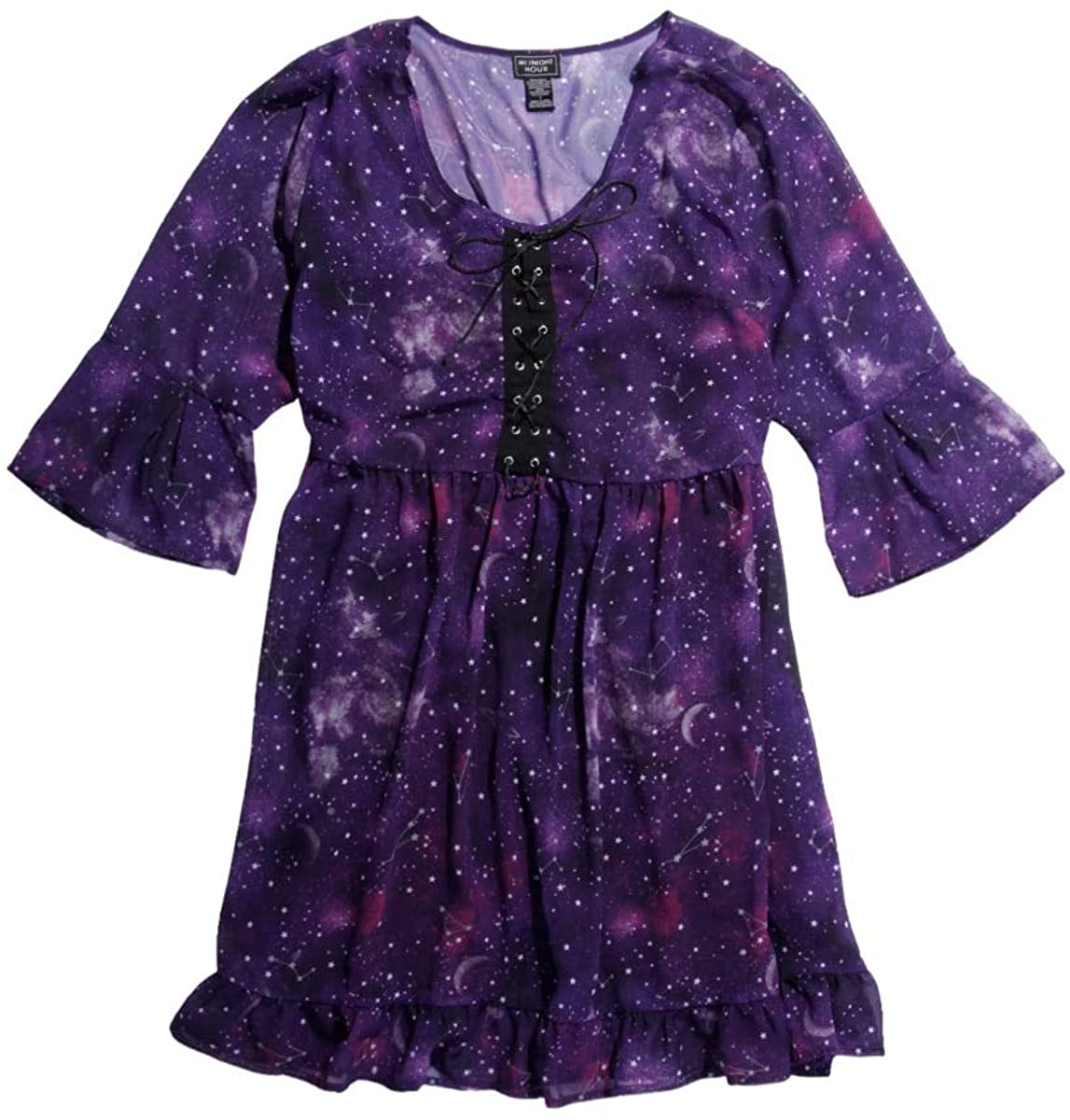 Hot Topic Puple Galaxy Chiffon Dress Plus Size
