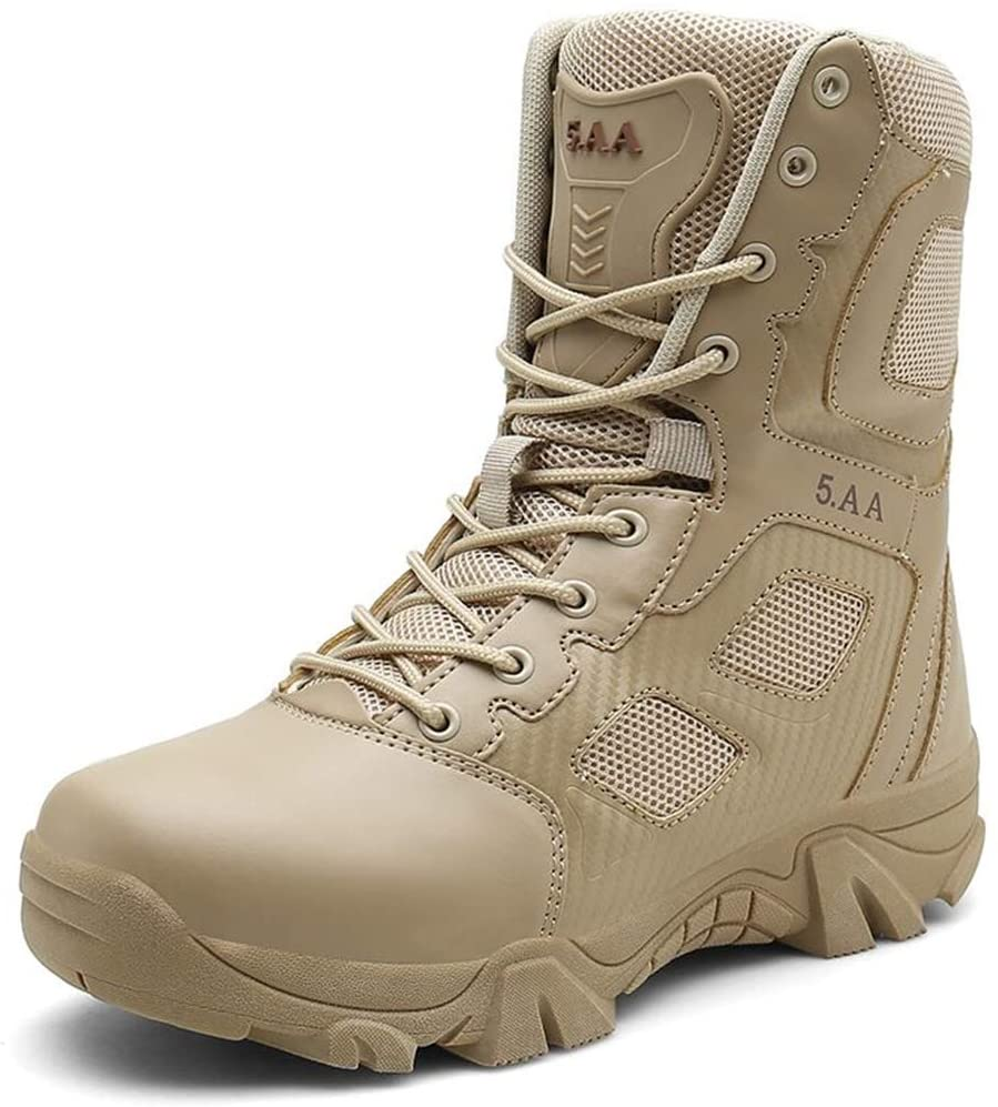NiuBuLaio Desert Tactical Mens Boots Wear-Resisting Army Boots Men Waterproof Outdoor Hiking Combat Ankle Boots