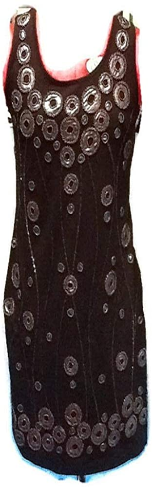 Black Dress with Bead on Front