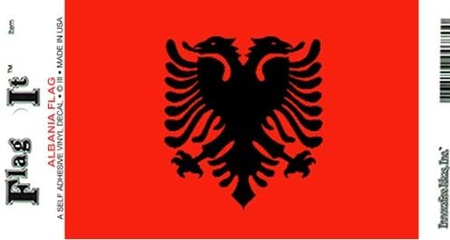 Albania Flag Decal for auto, Truck or Boat