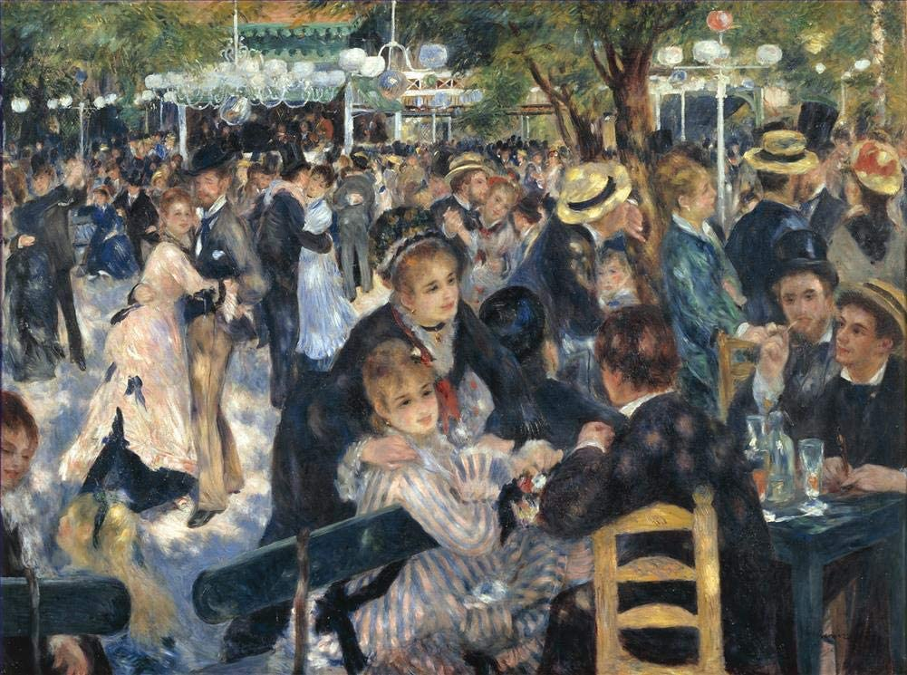 30 Famous Renoir Paintings - $50-$1000 Hand Painted by Academic Artists - The Ball at The Moulin de la Galette Pierre-Auguste Renoir APR2 - Art Oil Painting on Canvas -Size03