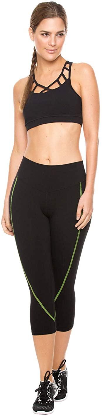 Flexmee Womens Capri Active Workout Leggings Gym Pants   Pantalones Deportivos