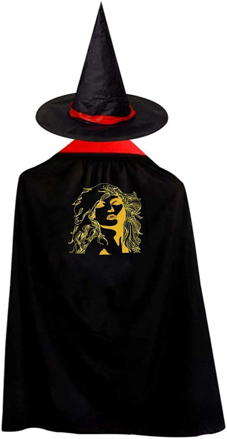 AP.Room Deluxe Halloween Children Costume Blondie Wizard Witch Cloak Cape Robe and Hat Set