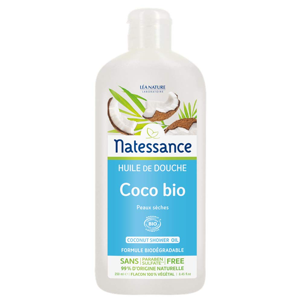 Natessance Organic Coconut Shower Oil 250ml