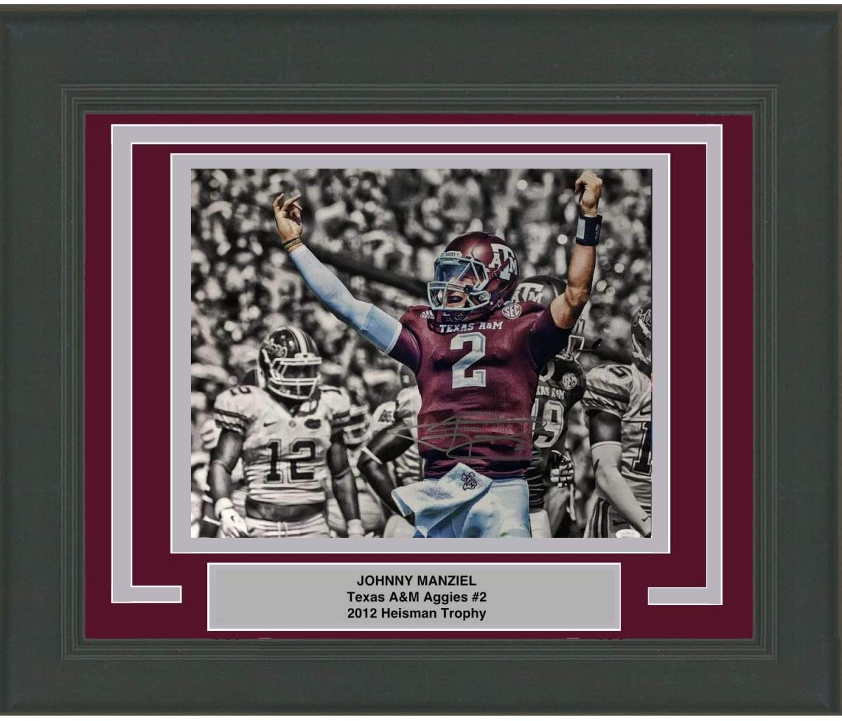 Framed Autographed/Signed Johnny Manziel Money Sign Texas A&M Aggies 16x20 College Football Photo JSA COA