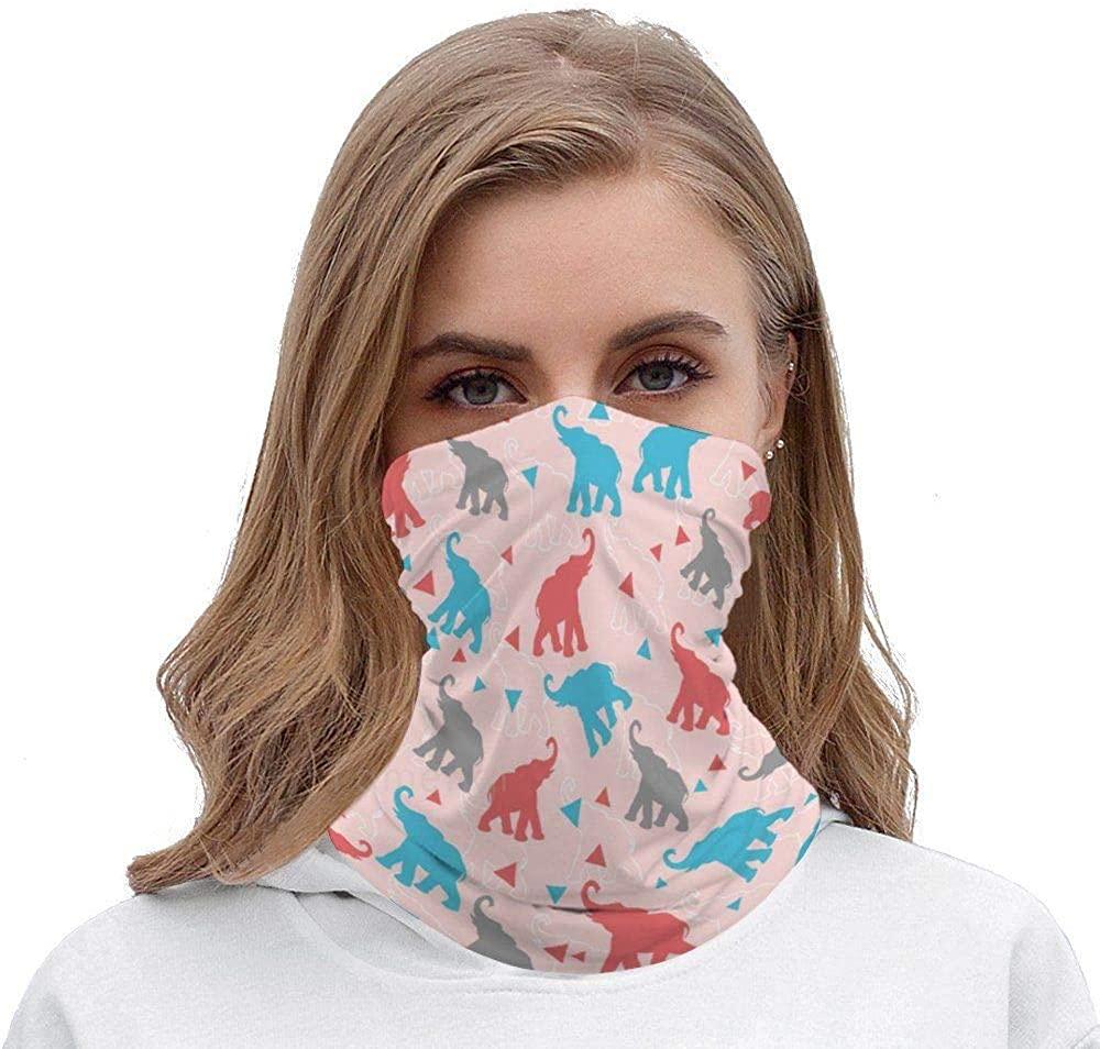 Face Bandana Dust Wind Protection Cartoon Elephant Neck Gaiter Tube Mask Headwear Seamless Durable Face Mask Headscarf