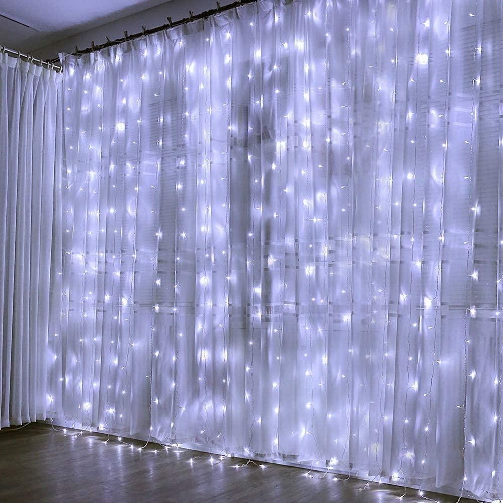 Warm Lighting Fairy Lights,3mx2m 240led Led Fairy Lights, Waterproof Christmas Lights for Christmas Decorations Beautiful (Color : White)
