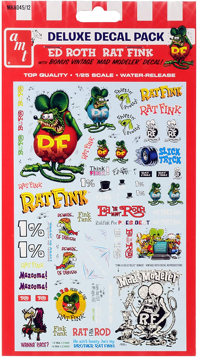 Ed Roth Rat Fink Decal Pack for 1/25 Scale Models by AMT MKA045
