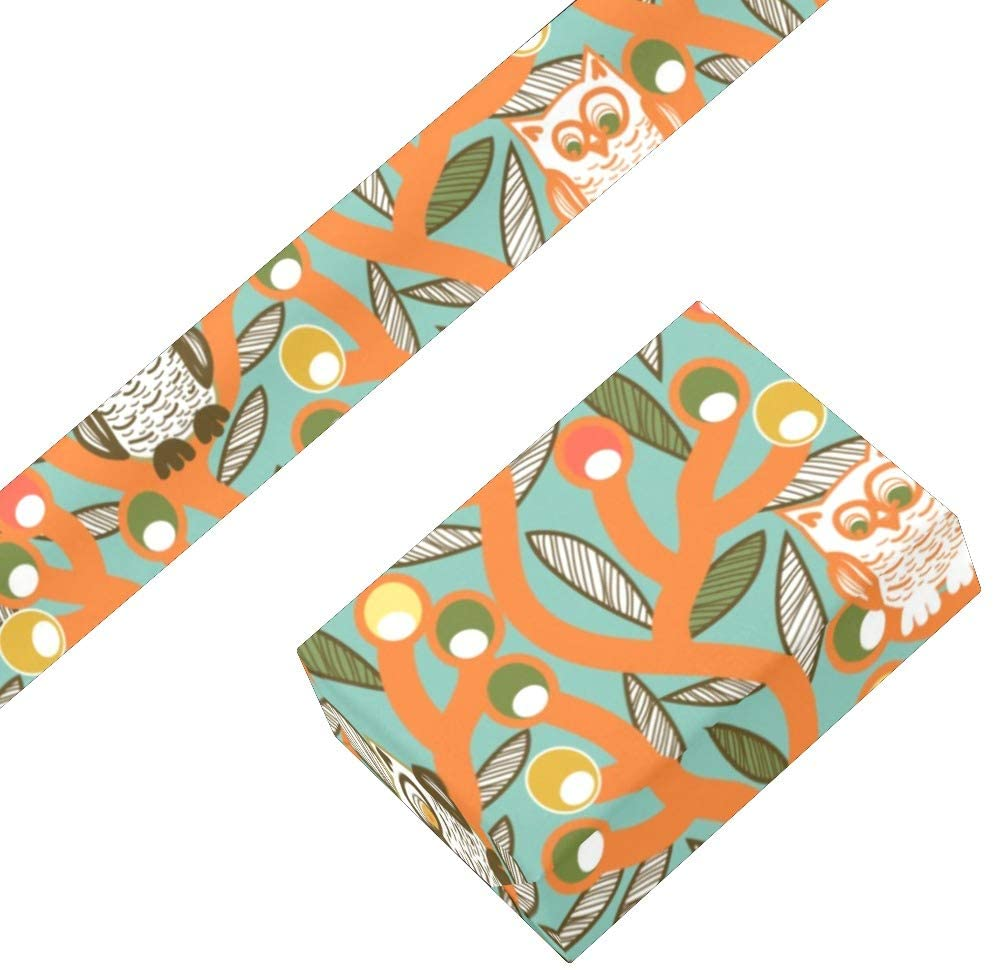 Owl Flower Floral Wrapping Paper Bundle 3 Rolls High Gloss and Metallic Prints for Halloween, Christmas,Thanksgiving Da