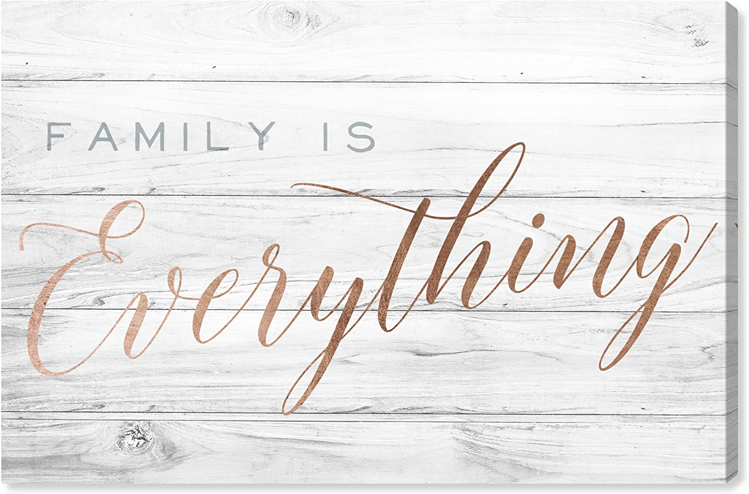 Wynwood Studio Typography and Quotes Wall Art Canvas Prints Family is Everything Home Décor, 30 x 20, Bronze, Gray