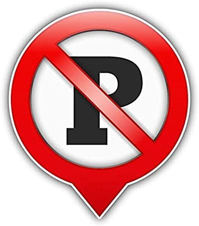No Parking Ban Stop Sign Sticker Decal Design - Sticker Graphic - Auto, Wall, Laptop, Cell, Truck Sticker for Windows, Cars, Trucks