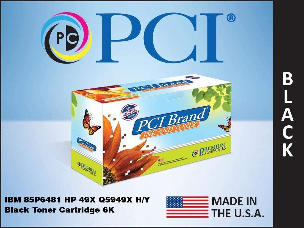 PCI Brand Remanufactured Toner Cartridge Replacement for IBM 85P6481 Replaces HP 49X Q5949X Black Toner Cartridge 6K Yield