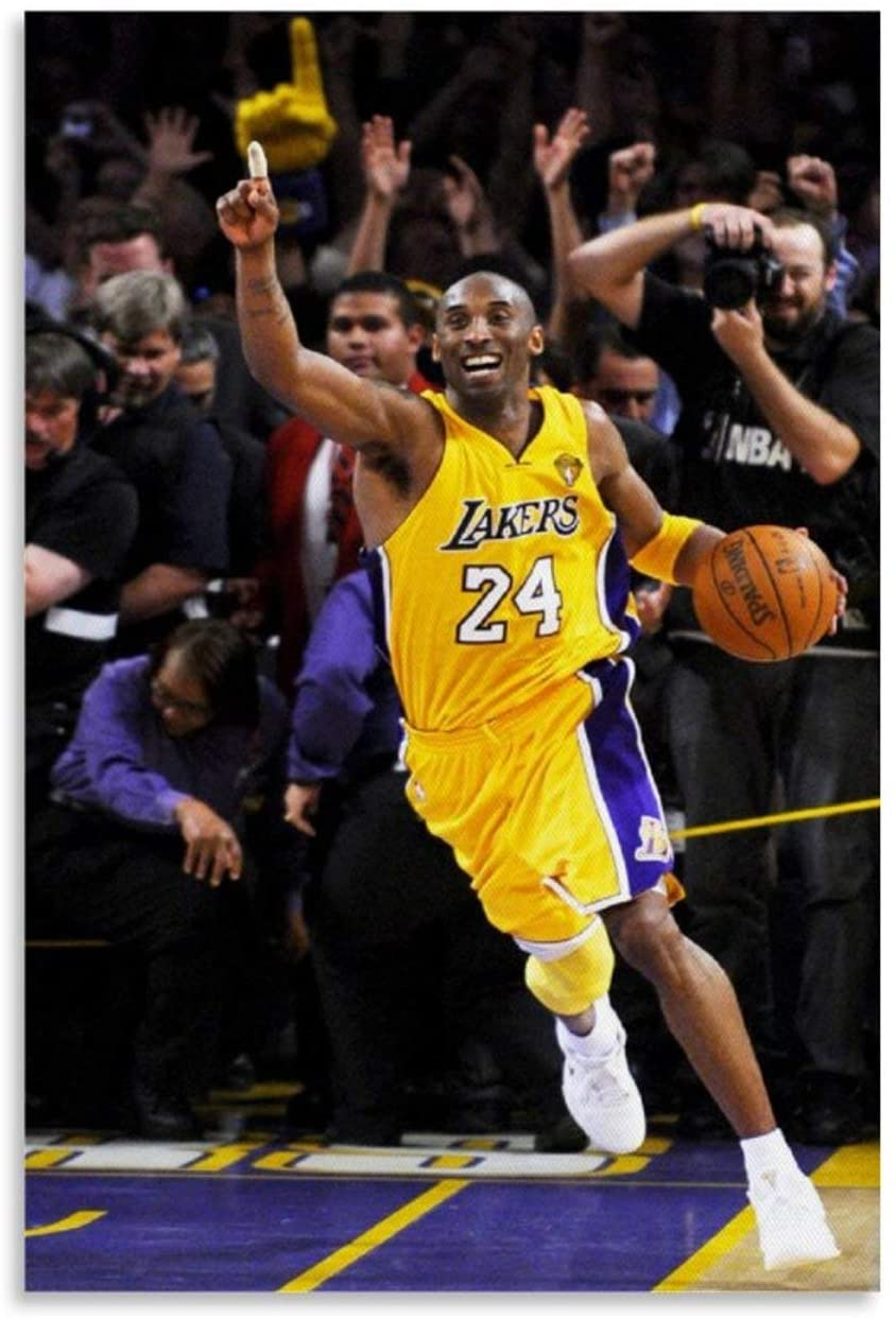 TYUIY Kobe Bryant Most Iconic Canvas Art Poster and Wall Art Picture Print Modern Family Bedroom Decor Posters 08x12inch(20x30cm)