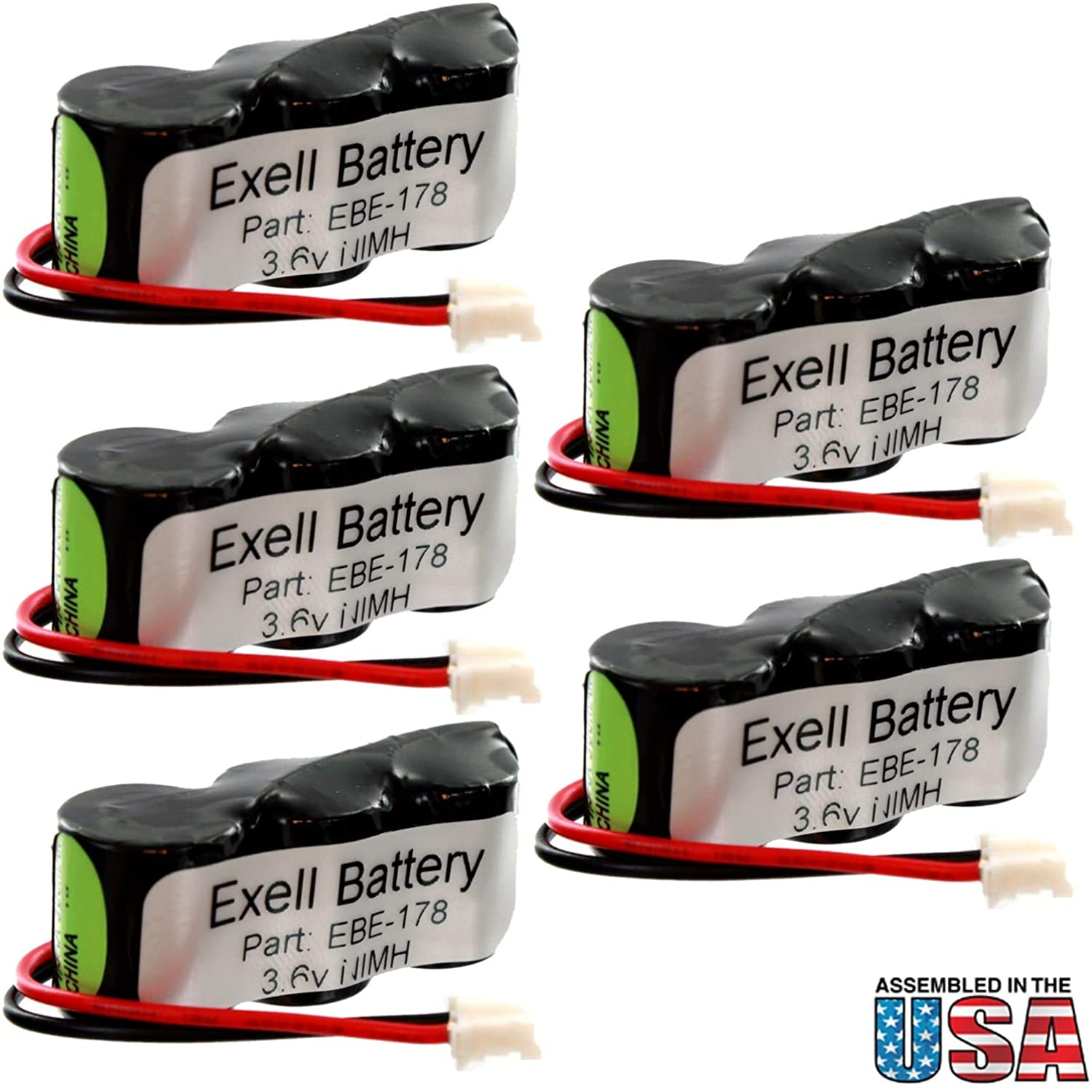 (5-Pack) Exell Battery Weather Station Battery Fits and Replaces Oregon Scientific STR918 Oregon Scientific STR928 Oregon Scientific STR938 Oregon Scientific STR968 Replacements 25AAH3BMX-2