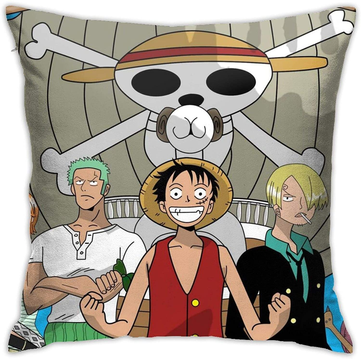 One Piece Square Pillow Cover Double Side Printed Zipper Throw Pillow Cover 18x18 Inches