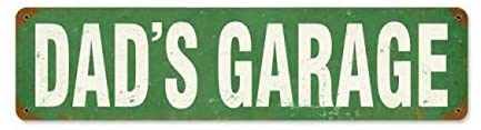 Dads Garage Metal Tin Sign Plate Drive Way Road Street Novelty Plaque Wall Vintage Bar Yard Home Decor Sign 4x16 inches