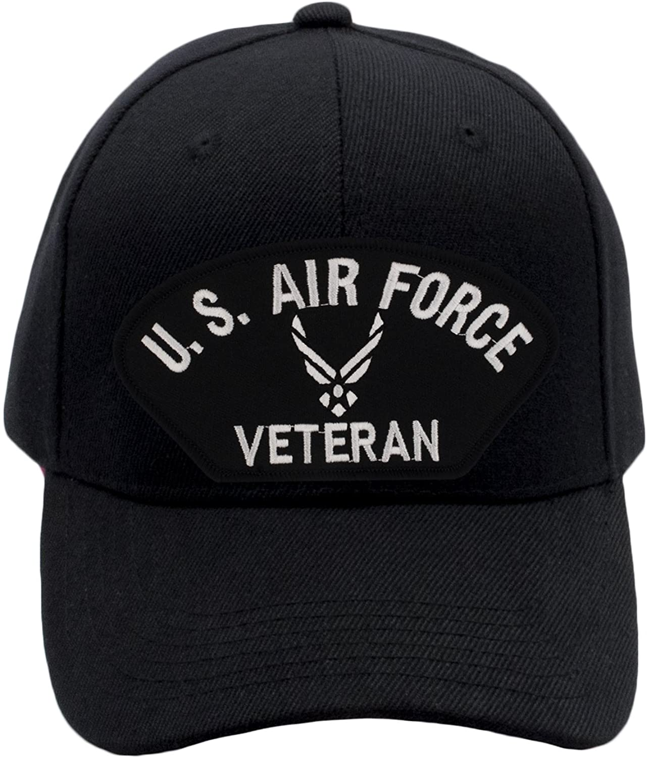 PATCHTOWN US Air Force Veteran Hat/Ballcap Adjustable One Size Fits Most (Multiple Colors & Styles)