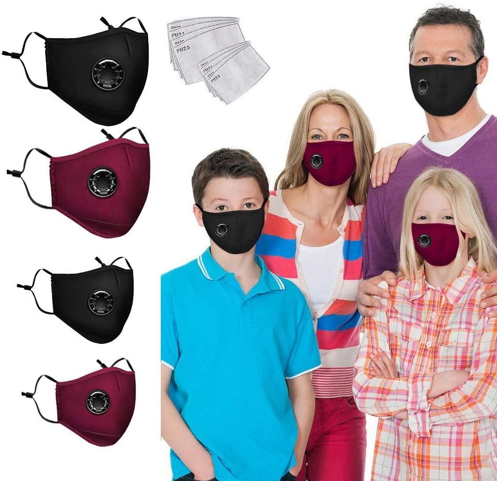 Studio 21 Graphix Unisex Face Màsc Washable Reusable Face Breathable 2pcs Kid Face Dust Cover; 2pcs Adult Face Dust Cover; 8pcs Activated Carbon Filters