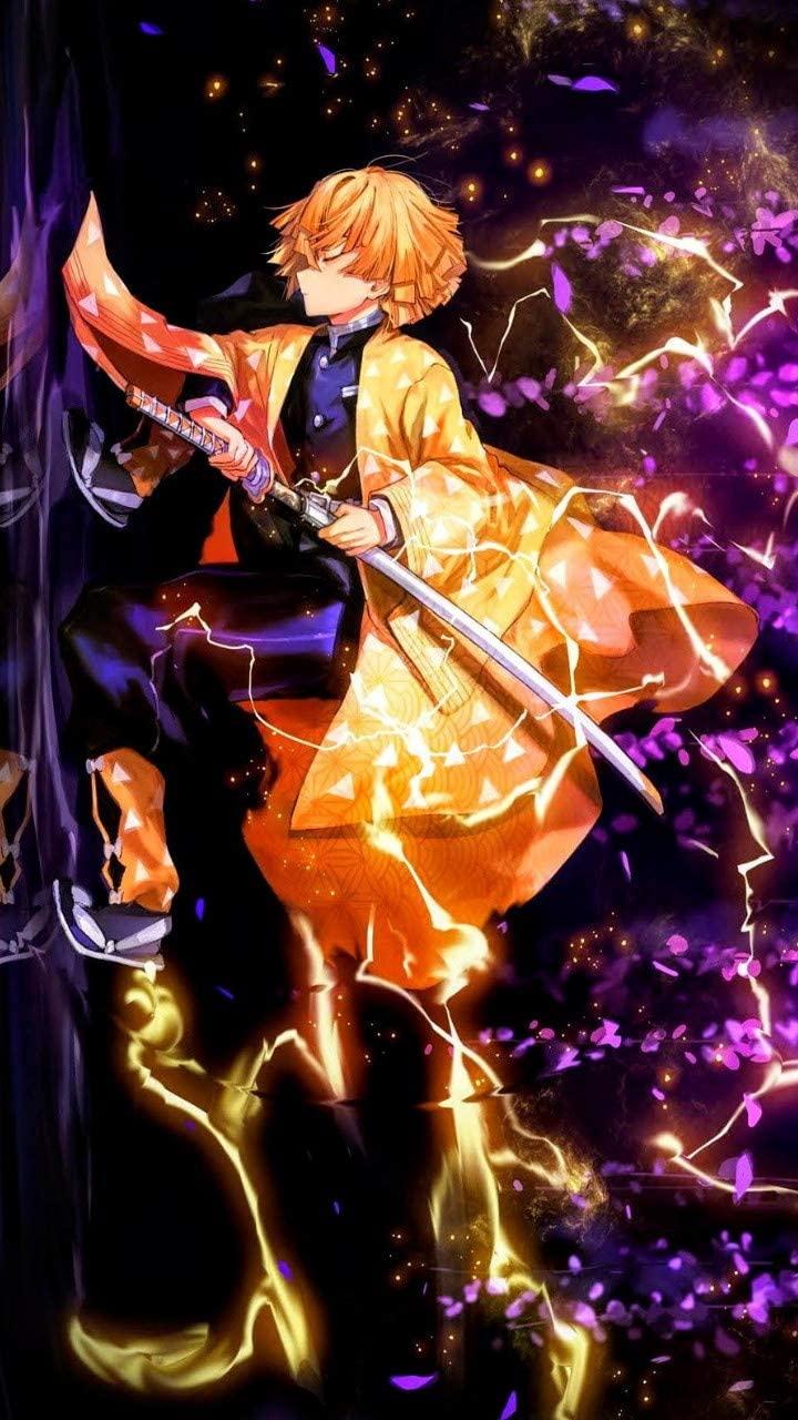 Demon Slayer Kimetsu no Yaiba Colorful Artwork Original Design Anime Wall Art Print Scroll Poster,50 x 70 cm,No Frame