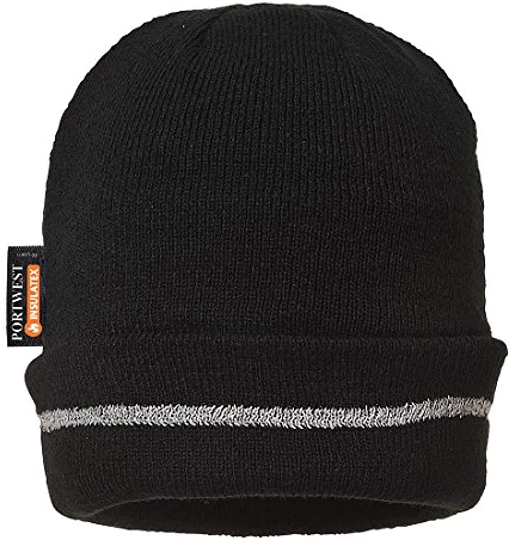 Portwest Knitted Hat Reflective Trim & Bandana Bundle