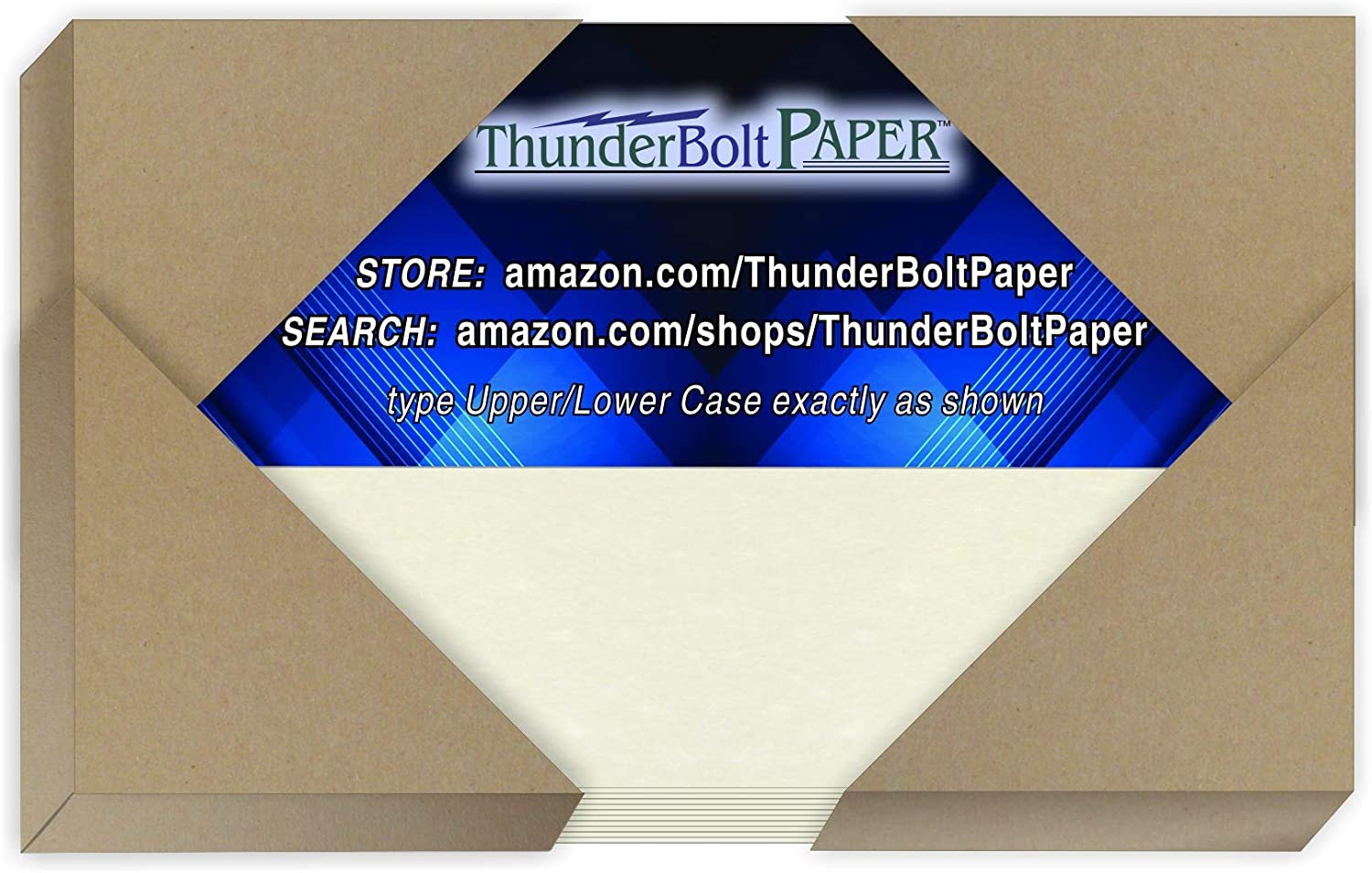 50 White Parchment 65lb Cover Weight Paper - 3