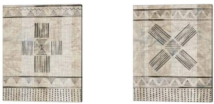 Moroccan Fringe by Jennifer Parker, 2 Piece Canvas Art Set, 12 X 15 Inches Each, Pattern Art