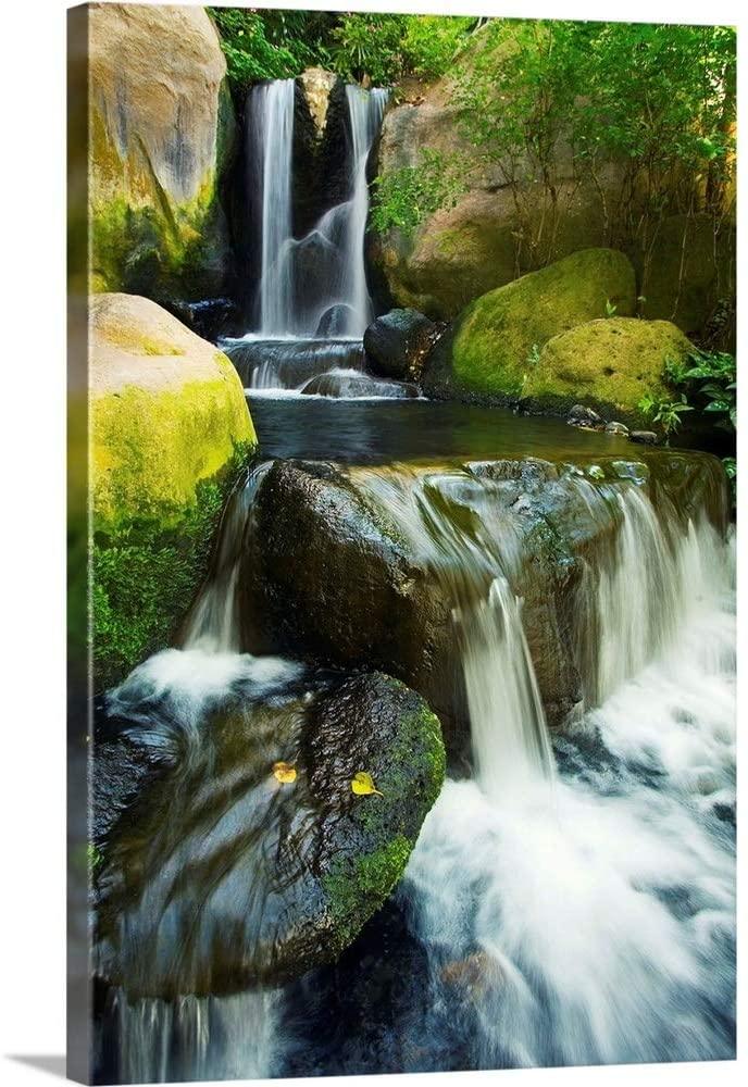 Hawaii Maui, Makena, Waterfall Canvas Wall Art Print, 24