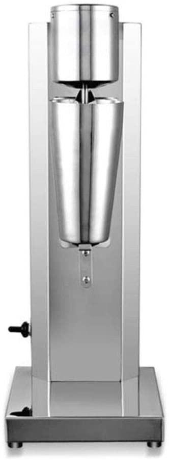 WUPYI 110V 180W Commercial Drink Mixer,Electric Milk Shake Machine,Milk Shaker Blender Milk Foam Mixer,Stainless Steel,18000RMP