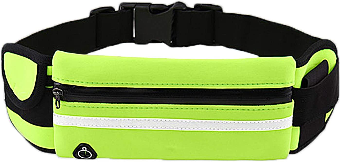 AiYi Running Belt Waist Pack -Slim Waterproof Reflective Fanny Pack- Running Belts That Fit All Phone Models and Fit All Waist Sizes. for Running, Workouts, Cycling, Travelling Money Belt & More