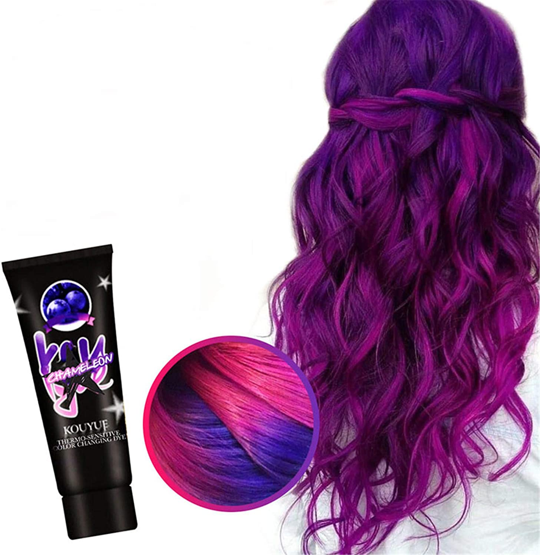 Ablita Thermochromic Color Changing Wonder Dye Hair Dye Fashion Hair Cream Unisex DIY Hair Color Wax Hair Color Hair Wax Color for Men Kids Hair Dye for Halloween Party Cosplay